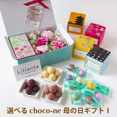 【choco-ne&アーティシャルフラワー 母の日ギフト1】 ギフト 母の日 ユニーク ラムネ チョコレート 個包装 詰合わせ ショコネ 奈良土産 ラムネ菓子 リリオンテ chocone 母の日ギフト 花 カーネーション