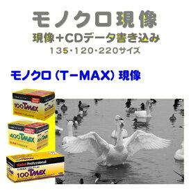 モノクロ(T−MAX)フィルム モノクロ(T−MAX)現像+CDデータ書き込み  Kodak T-MAX 100  T-MAX 400  T-MAX P3200135 120 1本から受付