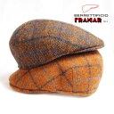 framar(フラマー)ウールツィードチェックハンチング メンズ帽子 メンズハンチング 送料無料