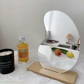 【送料無料】ビーンズ 変形 ミラー 豆型 卓上 鏡 韓国 インテリア 雑貨 可愛い おしゃれ かがみ プレゼント ギフト 誕生日 記念日