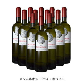 [12本まとめ買い] メシムネオス ドライ・ホワイト 2019年 メシムネオス ギリシャ 白ワイン 辛口 ギリシャワイン レスヴォス島 ギリシャ白ワイン チディリオティコ 750ml