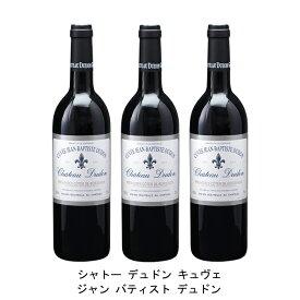 [ 3本 まとめ買い ] シャトー デュドン キュヴェ ジャン バティスト デュドン ( ジャン メルロ ) 2004年 フランス 赤ワイン フルボディ 750ml×3本