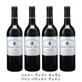 [ 4本 まとめ買い ] シャトー デュドン キュヴェ ジャン バティスト デュドン ( ジャン メルロ ) 2008年 フランス 赤ワイン フルボディ 750ml×4本