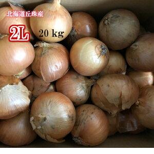 北海道札幌丘珠産/たまねぎ/2Lサイズ/20kg【送料無料※九州・沖縄を除く】