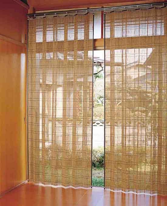 【送料無料】竹すだれカーテン 100×220 2枚組