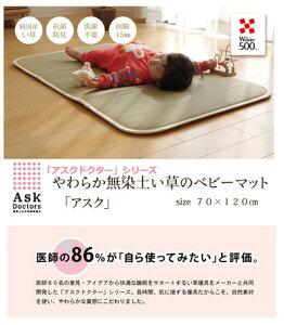 【日本製】【大人気】医師との共同開発 い草寝具『アスク ベビーマット』