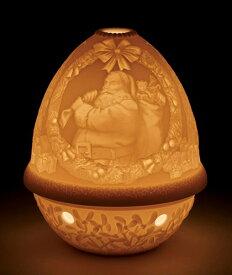 LLADRO リヤドロ ライトタンブラー(サンタクロース) 17340 陶器 置物 テーブルライト LED キャンドルランプ インテリアライト 照明