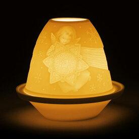 LLADRO リヤドロ ライトタンブラー(天使と星) 17341 陶器 置物 テーブルライト キャンドルランプ インテリアライト 照明