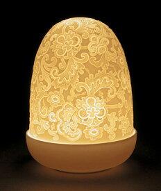 LLADRO リヤドロ Dome Lamp(レース) 23890 陶器 置物 テーブルライト LED キャンドルランプ インテリアライト 照明