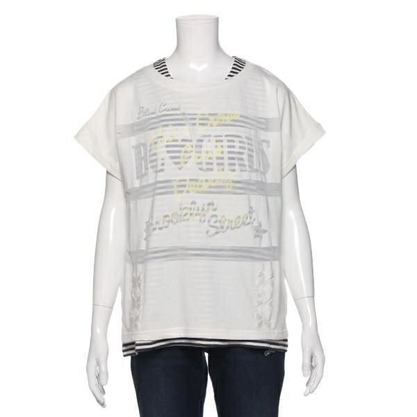 ブルークロスガールズ(BLUE CROSS girls)オパールグラフィックタンクトップつき半袖Tシャツ