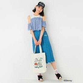 ブルークロスガールズ(BLUE CROSS girls)リメイク風肩開きTシャツ
