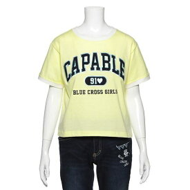 ブルークロスガールズ(BLUE CROSS girls)カレッジロゴ入りTシャツ