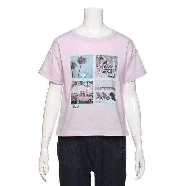 リンジィ(Lindsay)南国転写プリントワイドTシャツ