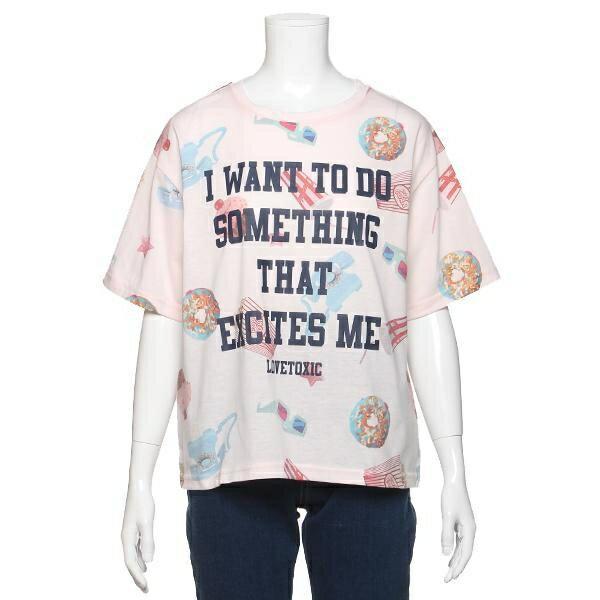 ラブトキシック(Lovetoxic)モチーフフォトプリントTシャツ