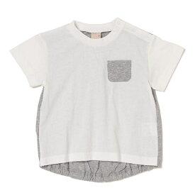 プティマイン(petit main)ポケット&後ろ身頃配色切り替えTシャツ