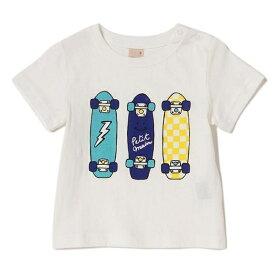 プティマイン(petit main)カラフルスケボープリントTシャツ