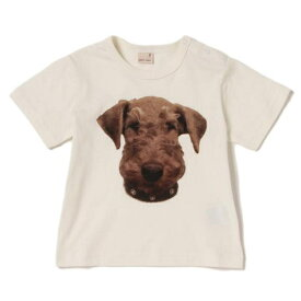 プティマイン(petit main)ドッグプリントTシャツ