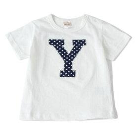 プティマイン(petit main)アルファベットアップリケつきTシャツ