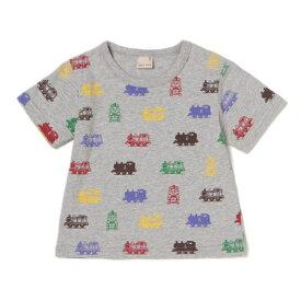 プティマイン(petit main)きかんしゃトーマスカラフル総柄Tシャツ