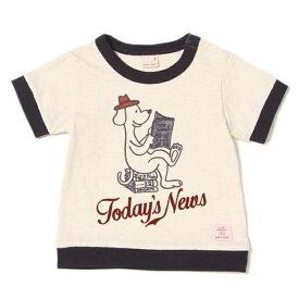 プティマイン(petit main)ワンちゃんプリントリンガーTシャツ