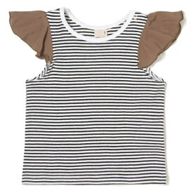プティマイン(petit main)ラッフル袖Tシャツ