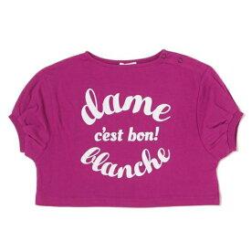ビールーム(b-ROOM)ロゴプリント入りボリューム袖Tシャツ