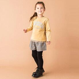 プティマイン(petit main)カレッジロゴ入り裾チュールTシャツ