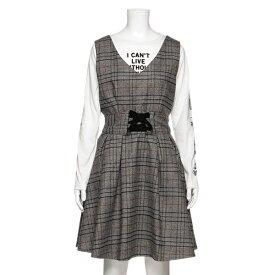 ラブトキシック(Lovetoxic)レースアップチェック柄ジャンパースカート