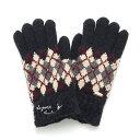 ポンポネットジュニア(pom ponette junior)エッフェル刺しゅう入り裏シャギーアーガイル手袋