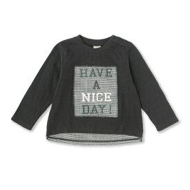 プティマイン(petit main)ボックスパッチTシャツ