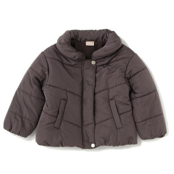 プティマイン(petit main)ベロア調リボンつき裏起毛中わたジャケット