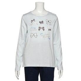 メゾピアノジュニア(mezzo piano junior)リボンいっぱいTシャツ