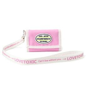 ラブトキシック(Lovetoxic)ロゴストラップつき三つ折り財布