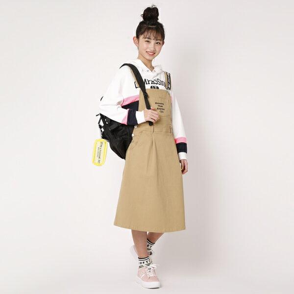 ラブトキシック(Lovetoxic)ロゴストラップジャンパースカート