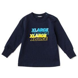 エクストララージ キッズ(XLARGE KIDS)四段重ねロゴTシャツ
