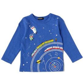 クレードスコープ(kladskap)太陽系電車ミックスTシャツ