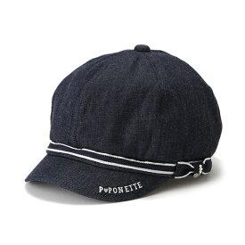 ポンポネットジュニア(pom ponette junior)サイドリボンつきキャスケット