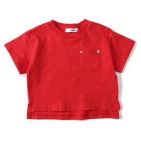 エックスガール ステージス(X-girl Stages)インパクトバックロゴポケットつきTシャツ