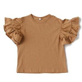 ビールーム(b-ROOM)ボリュームフリルスリーブ無地Tシャツ