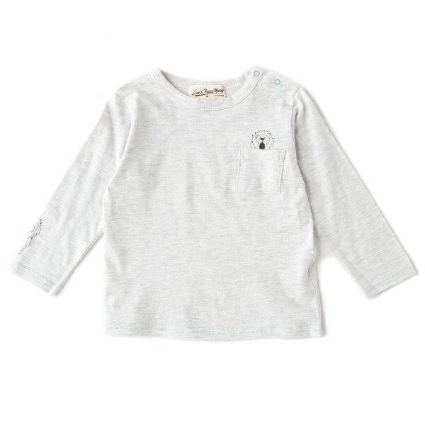 ラブアンドピースアンドマネー(Love&Peace&Money)ポケット袖ライオンTシャツ