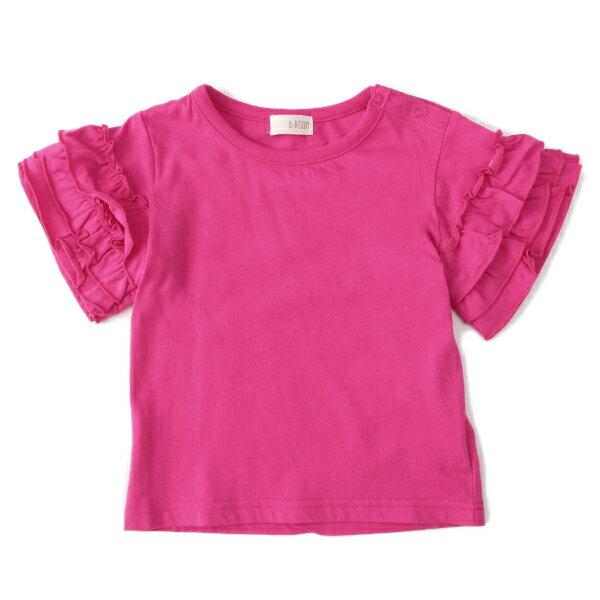 ビールーム(b-ROOM)3段フリル袖Tシャツ