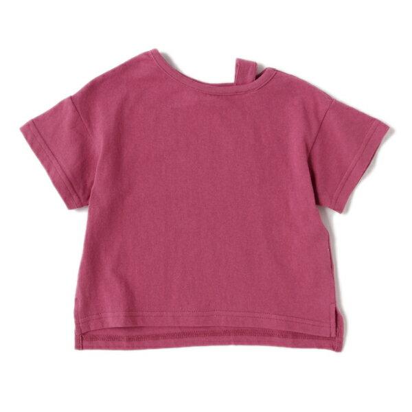 プティマイン(petit main)肩ストラップ四分袖Tシャツ
