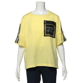 ラブトキシック(Lovetoxic)テープロゴ袖半開Tシャツ