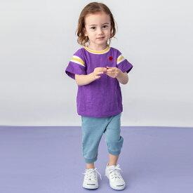 プティマイン(petit main)ボール刺しゅうナンバリングTシャツ