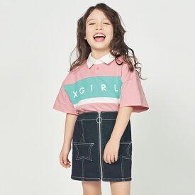 エックスガール ステージス(X-girl Stages)ロゴラガーシャツ
