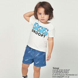 エックスガール ステージス(X-girl Stages)PEANUTSコラボ スケボースヌーピープリントTシャツ