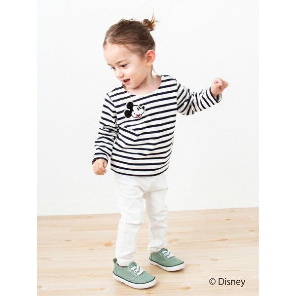 プティマイン(petit main)DISNEY サガラワッペンボーダーTシャツ