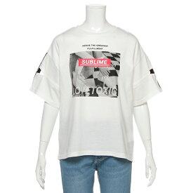 ラブトキシック(Lovetoxic)テープロゴスリーブ転写プリントTシャツ