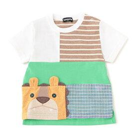 クレードスコープ(kladskap)ライオンパッチワークTシャツ
