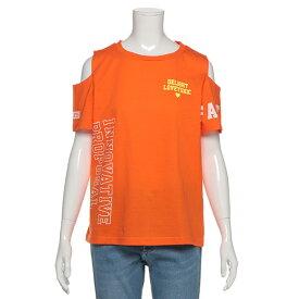 ラブトキシック(Lovetoxic)肩開きロゴ入りTシャツ